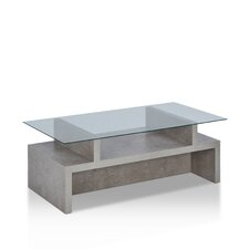 Maisen Contemporary Coffee Table with Magazine Rack by Enitial Lab