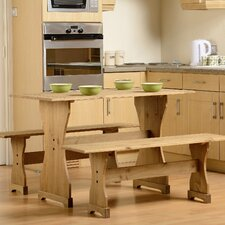 Corona Dining Set with 2 Benches