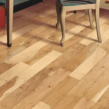 """Travatta 5"""" Solid Oak Hickory Hardwood Flooring in Country Natural"""