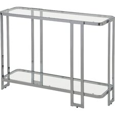 Jewell Glass and Metal Console Table by Ivy Bronx