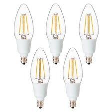 4 Watt Candelabra LED Light Bulb [Pack of 5]