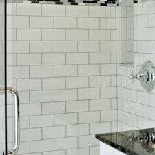 "Semplice 6"" x 2"" Ceramic Bullnose Tile Trim in Matte White"