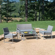 Caufield 4 Piece Seating Group with Cushion