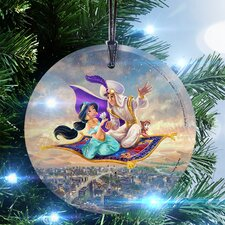 Disney Thomas Kinkade (Aladdin) StarFire Prints Glass Hanging Ornament