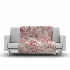 Suzanne Harford Cherry Blossoms Photography Fleece Blanket