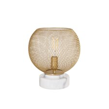 """Metal Mesh and Marble Up-Light 11"""" Torchiere Lamp"""