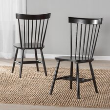 Benton Solid Wood Dining Chair (Set of 2) by Breakwater Bay