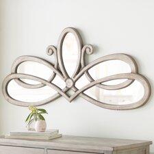 Irregular Wooden Accent Wall Mirror