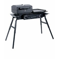Tailgater 2-Burner Propane Gas Griddle Grill with Stove
