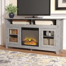 """Isabel Highboy 58"""" TV Stand with Electric Fireplace"""