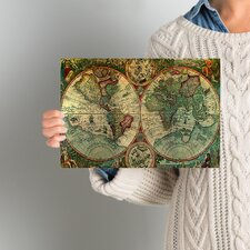 Treasure Map' Framed Graphic Art Print on Canvas
