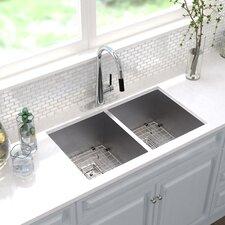 """Pax™ 31.5"""" x 18.5"""" Double Basin Undermount Kitchen Sink"""