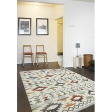 Naquin Red/Blue/Beige Rug