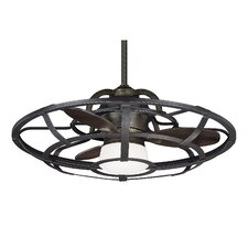 "26"" Betty-Jo 3 Blade Outdoor Ceiling Fan with Remote"