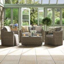 Bunbury 4 Seater Sofa Set with Cushions