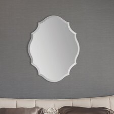 Unframed Wall Mirror with Hanging Hardware
