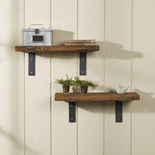2 Piece Industrial Accent Shelves (Set of 2)