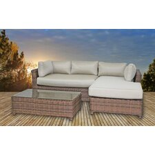 Dutil 3 Piece Deep Seating Group with Cushions