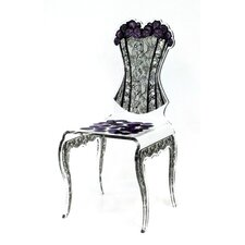 Kieron Corset Side Chair by Everly Quinn