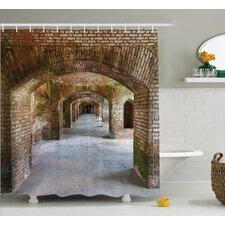 Brick Arches Decor Shower Curtain