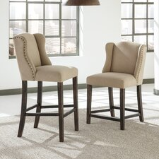 Carbondale Bar Stool with Cushion (Set of 2)