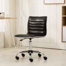 Shrum Chrome Adjustable Air Lift Office Mid-Back Desk Chair