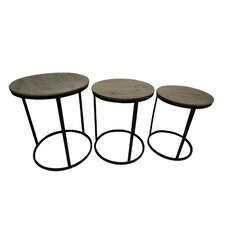 Helena Wood Top 3 Piece Nesting Tables by Williston Forge