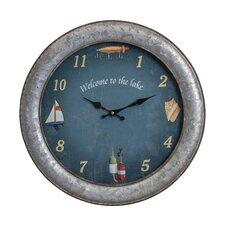 "18"" Aged Iron Wall Clock"