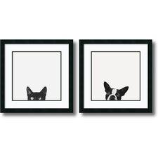 "2 Piece ""Curiosity and Loyalty"" by Jon Bertelli Framed Photographic Print Set"