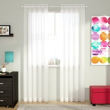 Alba Solid Sheer Rod Pocket Curtain Panels (Set of 2)