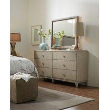 Elixir 6 Drawer Dresser with Mirror by Hooker Furniture