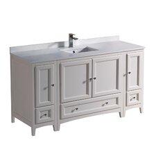 "Oxford 60"" Single Bathroom Vanity Set"
