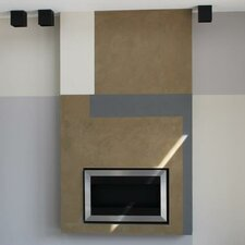 Square Small II Stainless Steel Ventless Wall Mounted Ethanol Fireplace with Safety Glass