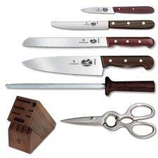 Rosewood 7 Piece Knife Block Set