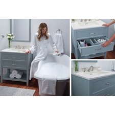 Newcastle 31 Single Bathroom Vanity Set with Mirror by Ronbow