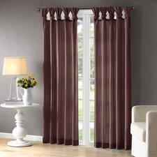 Rivau Solid Semi-Sheer Tab top Single Curtain Panel