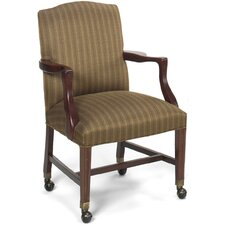 Tom Hardwood Guest Chair with Casters