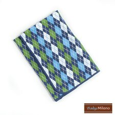 Baby Blanket in Blue Argyle