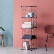 Modular 4 Shelf Shelving Unit
