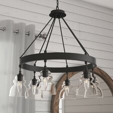 Arla 6-Light Shaded Chandelier