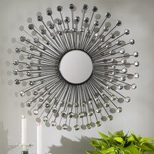 Beatty Modern Sunburst Wall Mirror