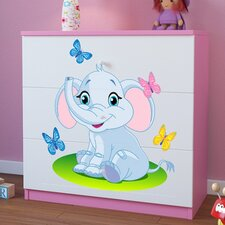 Kommode Elephant mit 3 Schubladen