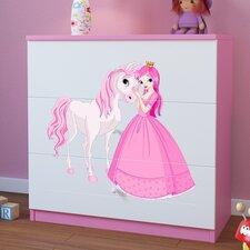 Kommode Princess & Pony mit 3 Schubladen