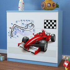 Kommode Formula 1 mit 3 Schubladen