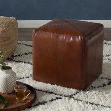 Gustavus Leather Ottoman