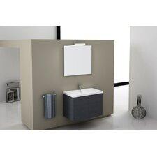 Trendy 32 Single Wall Mount Bathroom Vanity Set with Mirror by Iotti by Nameeks