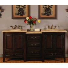 Evelyn 73 Double Bathroom Vanity Set by Silkroad Exclusive