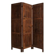 72 x 63 Ponderosa 3 Panel Room Divider by Screen Gems