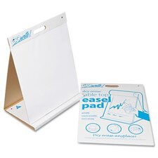 Gowrite Dry Erase Table Top Easel Pad Free-Standing Whiteboard, 2' H x 2' W