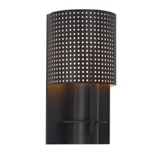 """Oberon 10"""" 1-Light Wall Sconce with Black Bronze Steel Shade in Black Bronze"""